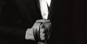 Tie in hand